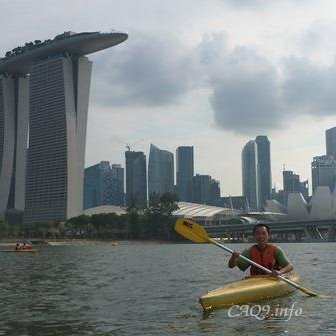 Kayaking in Marina Bay, Singapore